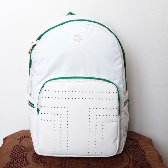 205317a3286 New Tory Burch Sport Perforated Backpack Ivory